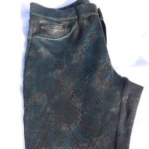 Black and Blue Snake Skin Jegging XS
